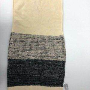 Athleta Dove Beige Grey Large Wool Ombre Scarf Wr